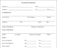 Incident Report Template Word Sample Incident Report Template Free