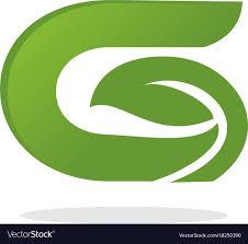 letter g letter g leaf logo royalty free vector image vectorstock