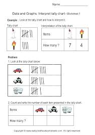 Tally Marks Worksheets Bar Graph For Grade Mark Unique Chart