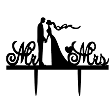 wedding cake topper clipart.  Clipart 1 Unit Black Acrylic Romantic Wedding Decoration Cake Topper Offer To Clipart G