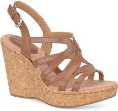 brown leather wedge sandals b ø c boc nilsa platform wedge sandals