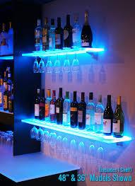 wine rack lighting. Amazon.com: 3\u0027 LED Lighted Floating Bar Shelving With Integrated Wine Glass Rack (Shelf Only): Kitchen \u0026 Dining Lighting D