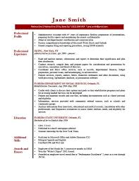 Profile Examples Resume - Template