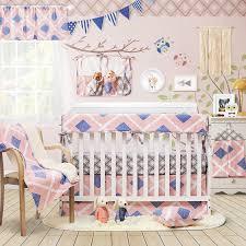 plaid crib bedding boho crib bedding
