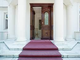 front door of luxury villa