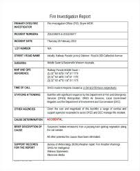 Of Construction Accident Report Form Template Fire Incident Brochure