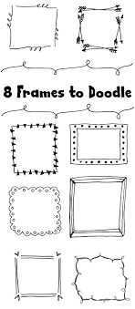 Easy Frame Design Drawing 8 Hand Drawn Frames To Doodle Dawn Nicole