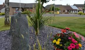 gravel border with flowers