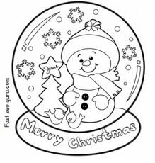 They are a fun activity to do to print the coloring pages from your computer, simply click the print image button in the top. Christmas Snowman Coloring Pages Part 5