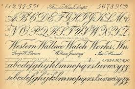 Vintage Cursive Handwriting Chart Vintage Early 1900s Early 20th Century Cursive Script