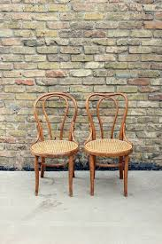 antique thonet bentwood chairs pair of wood cafe chairs turn of the century cane seat chairs