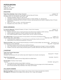 Awesome College Freshman Resume No Work Experience Photos Simple