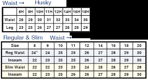 Pin By Mb Mcdermott On Parsons Husky Jeans Size Chart