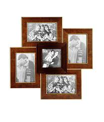 5 picture frames brown photo collage celestial frame