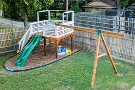 Building A Backyard Playground Diy Backyard Playground And Swing Set