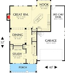 craftsman floor plans. Craftsman Home Plan With Bonus Room - 6903AM Floor Main Level Plans L