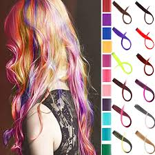 """24"""" <b>Long Straight Fake Colored</b> Hair Extensions Clip In Highlight ..."""