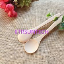 1000pcs small wooden spoons natural eeo friendly mini honey spoons kitchen mini coffee teaspoon kids ice cream scoop tableware spoons w03q02717268