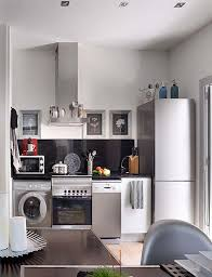 Kitchen Design For Apartments Custom Amazing Small Apartment Offers Modern Bright Visualization Modern