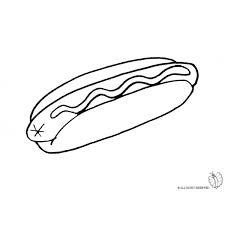 Disegno Di Hot Dog Da Colorare Per Bambini Disegnidacolorareonlinecom