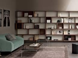 modular bookcase  wallmounted  contemporary  for offices  e