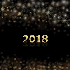 new year 2018 card celebration decoration happy event festive greeting copy space banner stars text template