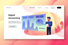 Banner In Web Design Finance Accounting Banner Land Website Templates