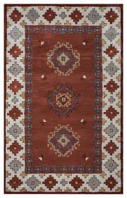 rizzy home rust runner rug woolx 8 rustic area rugs by gwg