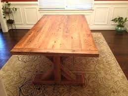 image 0 reclaimed wood trestle dining table salvaged weathered concrete round image 0 reclaimed wood trestle