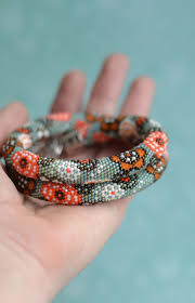 Design And Adorn Beading Studio Bead Crochet Necklace Beadwork Jewelry Japanese Watercolor