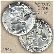 Us Dime Value Chart 1942 Dime Value Discover Your Mercury Head Dime Worth