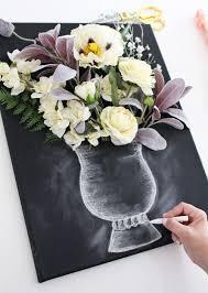 valerie mckeehan shares chalk tips for illustrating a chalk art vase to create diy 3  on 3d flower wall canvas art with diy 3 d flower canvas art part 2
