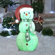 outdoor snowman decorations color changing frosted lighted display frosty the Outdoor Snowman Decorations Color