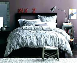white pintuck duvet cover king amazing grey double trim silver