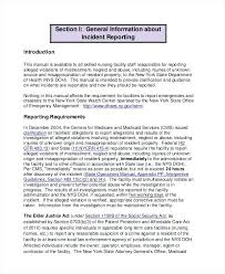 7 Security Incident Report Template Hospital Sample Medical