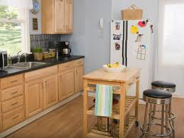 Kitchen:Basic Kitchen Set With Wood Portable Kitchen Island Feat Bar Stools  Excellent Wooden Kitchen