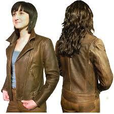 brown leather jacket uk