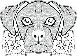 Printable Dog Coloring Pages Free Face House Awesome And Beautiful