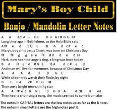 marys boy child banjo letter notes