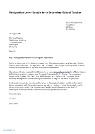 Letter To School Principle Valid Format Of Resignation Letter To School Smkingdomworks Org