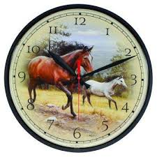 12 5 in horses wall clock