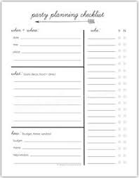 Party List Template Printable Event List Download Them Or Print