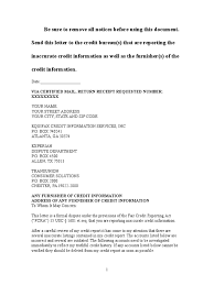 sle dispute letter to credit bureau
