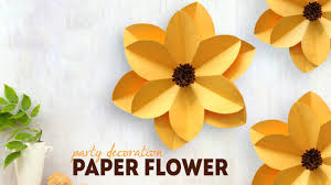 Homemade Paper Flower Decorations Diy Party Decoration Paper Flower Youtube