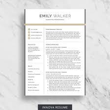 Modern Resume Etsy 10 Best Etsy Resume Templates Graphicadi