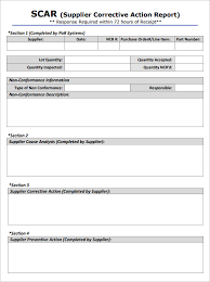 Corrective Action Form Template 8 Corrective Action Report Templates