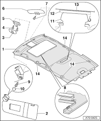 audi workshop manuals > a4 mk1 > body > general body assembly a70 0425 ‒ detach left wiring harness