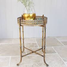 tallulah gold distressed table side tables