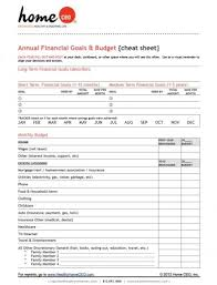 Printable Home Ceo Family Budget Form One Page Quick View