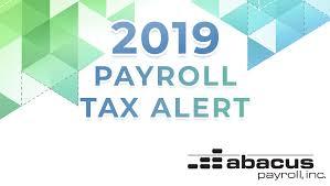 Federal Payroll Chart 2019 Federal Payroll Tax Rates Abacus Payroll